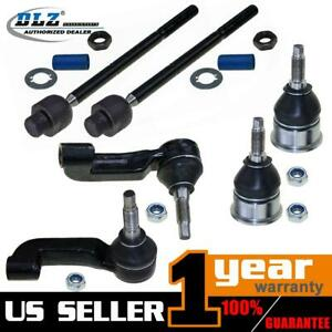 6 Pcs Ball Joint Tie Rod End Suspension Kit For Jeep Liberty 2002 2003 2004