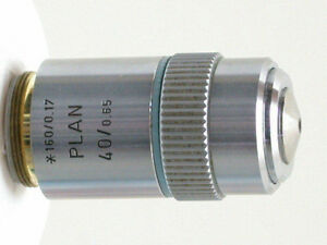 Leitz Plan 40 0 65 Microscope Objective Excellent Condition