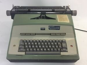 Vintage Green Ibm Typewriter Model 12 60s Works