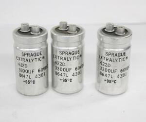 Sprague 622d Extraltic Capacitor Lot Of 3