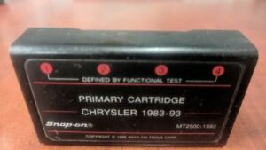 Snap On Diagnostics Fast Track Mt2500 1393 Chrysler 1983 93 Primary Cartridge