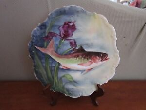 Limoges Flambeau Ldbc Fish Plate Charger Signed Rcx