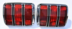 1964 1965 1966 Ford Mustang 2 Tail Turn Signal Light Lamp Lens Assemblies