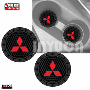 Mitsubishi Logo Car Accessories Universal Round Cup Can Holder Insert Coaster