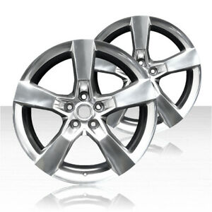 Revolve 20x8 Polished Front Wheel For 2010 2013 Chevy Camaro set Of 2