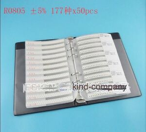 Smd Resistor Assorted Book Kit 0805 5 1 8w 50x 177 Values 8850pcs 0r 20m