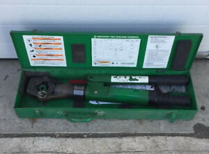 Greenlee 1990 Dieless Hydraulic Cable Crimper 1989 Burndy 1