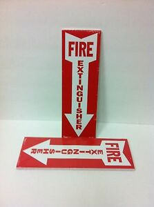Two Packs Of 25 New 12x4 Fire Extinguisher Sticker Signs Free Shipping 50 Total