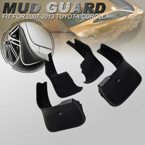 For Toyota Corolla 2007 2010 2011 2013 4 Pcs Front Rear Splash Guards Mud Flaps
