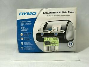 New Dymo Labelwriter 450 Twin Turbo Label Printer For Pc Mac some Box Damage