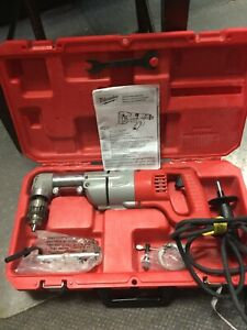 Milwaukee Right Angle Reversing 1 2 D handle Drill