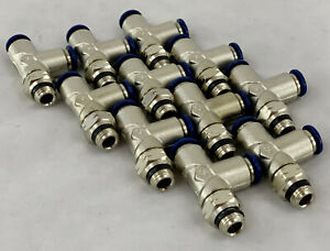 Aignep Alpha Pneumatic Swivel Run Tee 1 4 Tube 1 8 Swift Fit Nos lot Of 11