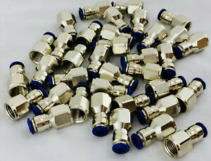 Aignep Alpha Pneumatic Straight Female 1 4 Tube 1 4 Npt Swift Fit lot Of 18