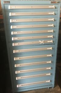 Vidmar 8 Drawer Tool Cabinet 40 X 25 X 57 h Mobile Industrial