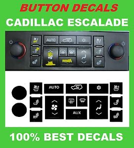 2007 2013 Cadillac Escalade A C Buttons Climate Control Decal Stickers