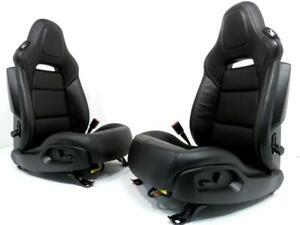 Chevy Corvette C7 Black Oem Leather Seats With Heat Cooling Bags