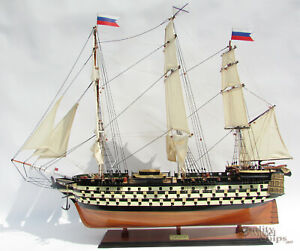 Twelve Apotles Handcrafted Russian Wooden Ship Model Ready Display 37