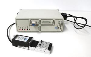 Aerotech U1j lm a 40 Motion Controller W Accudex Ats5025m 52284 Linear Stage