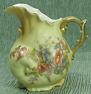 Antique Rw Rudolstadt Germany Porcelain Creamer Pitcher Seashell