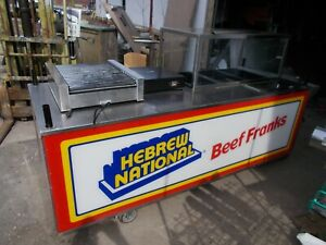 Vending Foodservice Concession hot Dog Cart full Service on Board Water sink