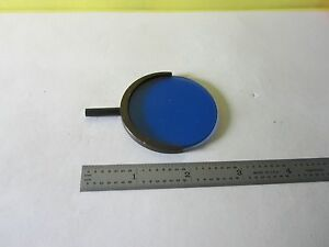 Microscope Part Leitz Germany Blue Glass Filter Optics As Is 15 b 12