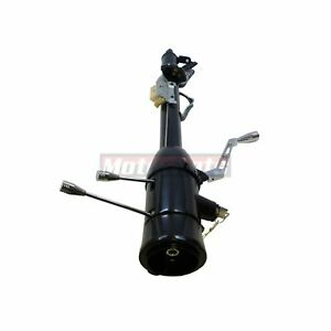 Black Stainless 28 Automatic Steering Column Shift Chevy Universal Ignition Key