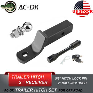 Ac dk 2 Drop Trailer Tow Hitch With 2 Hitch Ball And 5 8 Hitch Lock Pin
