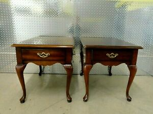 Pair Thomasville Collectors Cherry End Tables