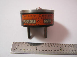 Vintage Wwii Quartz Radio Crystal Bliley Bc3 3963 Kc Frequency Control Bin 2b I