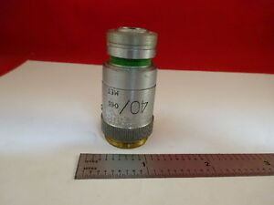 Microscope Part Vickers England Uk Objective Microplan 40x Optics As Is 21 a 23