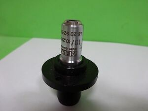 Microscope Part Objective Zeiss Germany Epiplan 10x Optics As Is Bin 72 21
