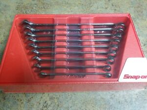 New Snap On 3 8 Thru 7 8 12 Point Box Combination Wrench Set Oex709b