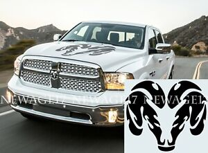 Dodge Ram Hood Hemi 1500 Rear Bed Stripes Truck Decals Stickers Pair Racing