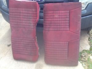87 89 Mustang Gt Lx Convertible Red Rear Seats Upper And Lower Red