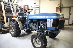 Ford 1210 4wd Diesel Tractor W Rfd Finish Cutter And Rake Attachment