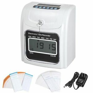 Lcd Attendance Time Clock W 50 Monthly Thermal Cards Employee Recorder K 7 Max
