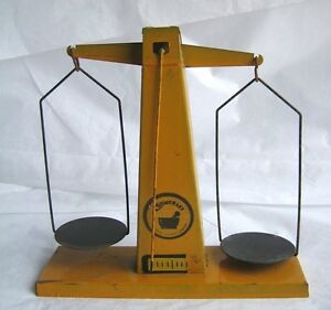 Vintage 1950s Chemcraft Chemistry Scale Only From Set Yellow Vintage Toy Tin 415