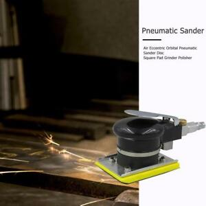 Air Eccentric Orbital Pneumatic Sander Disc Square Pad Grinder Polisher Sanding