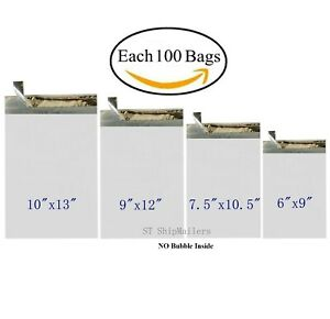 400 Poly Mailers Shipping Bags Each 100 6x9 7 5x10 5 9x12 10x13 St Shipmailers