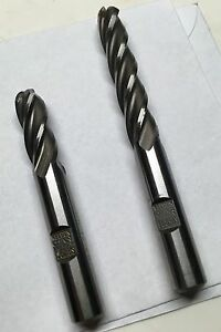 Weldon Ball Nose End Mills Qty 2 4 Flt 3 8 Dia X 2 75 And 3 8 X 3 75