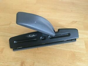Swingline Acco Model 74030 2 3 Hole Punch Heavy Duty Business Black Adjustable