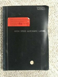 Tornos Rr 20 High Speed Swiss Automatic Lathe Manual Swiss Made