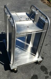 Delfield Cantilever Double Food Tray Mobile Cart