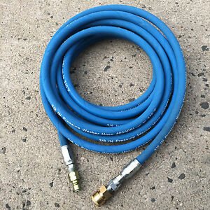 25ft 3 8 4000psi Blue Non marking Pressure Washer Hose W Qc Fittings new