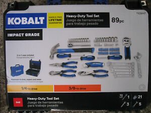 Kobalt 89 piece Standard sae Polished Chrome Mechanic s Tool Set 2 In 1 Case