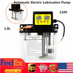1 8l Digital Automatic Electric Lubrication Pump Oil Pump Oiler Nc Pump 110v Usa