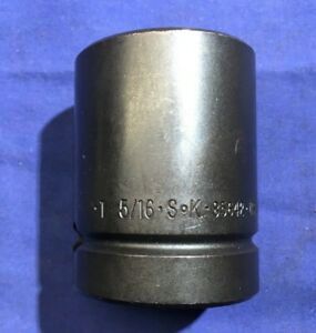 Sk S k Tools 1 5 16 Socket 1 Drive Shallow 6 Point Impact 85642 Un used
