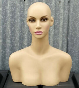 Less Than Perfect 508 a Female Mannequin Head Display Form With Shoulder Bust