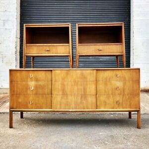 Rare Mid Century Modern Dresser And Nightstands Pair Ray Sabota John Stuart