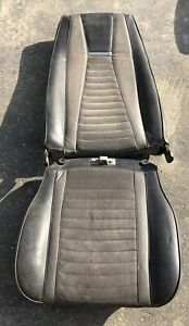 Vintage Ford Mustang Mach 1 Seat Black Leather